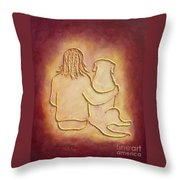 Being There 3 - Dog And Friend Throw Pillow