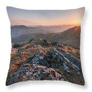 Sunset From Beinn Ghlas - Scotland Throw Pillow