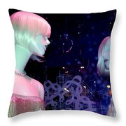 Bejeweled Blondes Throw Pillow