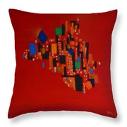 Bejeweled City Throw Pillow