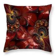 Bejewelled Crimson Throw Pillow