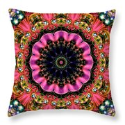 Bejewelled Mandala No 6 Throw Pillow