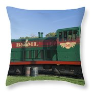 Belfast And Moosehead Lake Railroad Maine Img 6151 Throw Pillow