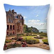 Belfast Castle Cat Garden Throw Pillow