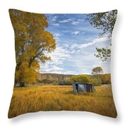 Belfry Fall Landscape Throw Pillow by Roger Snyder