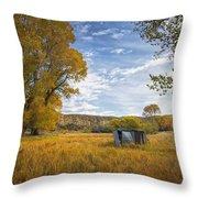 Belfry Fall Landscape Throw Pillow