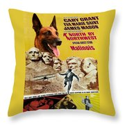 Belgian Malinois Art Canvas Print - North By Northwest Movie Poster Throw Pillow
