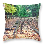 Belgrave Puffing Billy Railway Track Throw Pillow