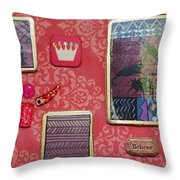 Believe Collage Throw Pillow
