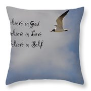 Believe In Throw Pillow