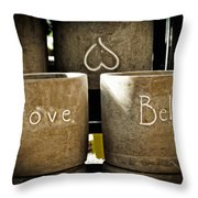 Believe In Love - Photography By William Patrick And Sharon Cummings Throw Pillow