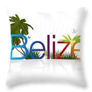 Belize Throw Pillow by Aged Pixel