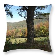 Belknap Mountain Throw Pillow