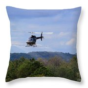 Bell 206 Helicopter Throw Pillow