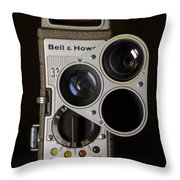 Bell And Howell 333 Movie Camera Throw Pillow
