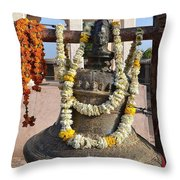 Bell At The Temple Of The 64 Yoginis - Jabalpur India Throw Pillow