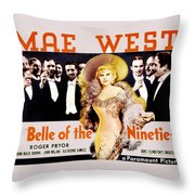 Bell Of The Nineties Throw Pillow