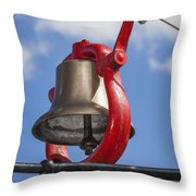 Bell On Steam Engine Throw Pillow