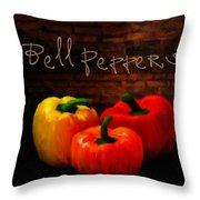 Bell Peppers II Throw Pillow