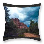 Bell Rock Drama Sky Throw Pillow