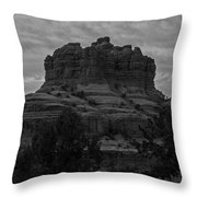Bell Rock In Black White Throw Pillow