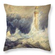 Bell Rock Lighthouse Throw Pillow
