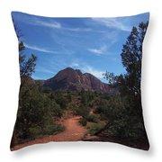 Bell Rock Trail Throw Pillow