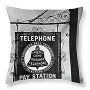 Bell Telephone Sign, C1899 Throw Pillow