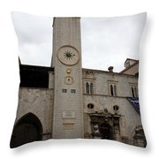 Bell Tower At Luza Square Throw Pillow