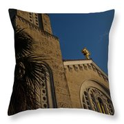 Bell Tower At St Sophia Throw Pillow