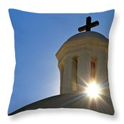 Bell Tower Sun Burst  Tumacacori Mission Throw Pillow
