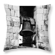 Bell Tower Valbonne Abbey Throw Pillow by Christine Till