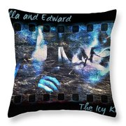 Bella And Edward - The Icy Kiss Throw Pillow