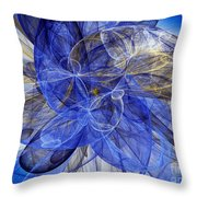 Bella Blue Throw Pillow