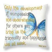 Bella Butterflies 1 Throw Pillow