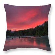 Bella Pink Throw Pillow
