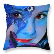 Bellafly In Blue Throw Pillow