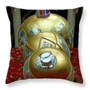 Bellagio Christmas Ornaments Throw Pillow