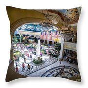 Bellagio Conservatory And Botanical Gardens Throw Pillow