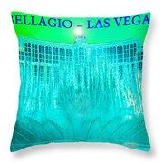 Bellagio Fountains Las Vegas Throw Pillow