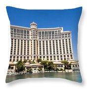 Bellagio Resort And Casino Panoramic Throw Pillow