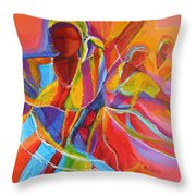 Belle Dancers Throw Pillow
