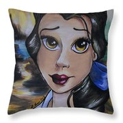 Belle In A Da Vinci Style Throw Pillow