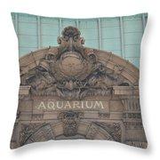 Belle Isle Aquarium Entrance 1 Throw Pillow