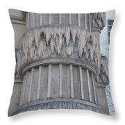 Belle Isle Aquarium Entrance Throw Pillow