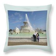 Belle Isle Fountain Splash Throw Pillow
