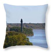 Bellevue Rear Range Lighthouse  Throw Pillow