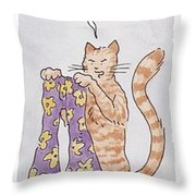 Belling The Cat 'well Throw Pillow