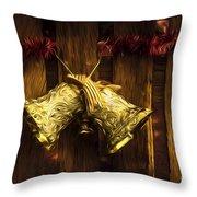 Bells Of Christmas Joy Throw Pillow