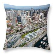 Belltown In Downtown Seattle Throw Pillow